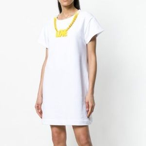 LOVE MOSCHINO Love necklace T-shirt dress